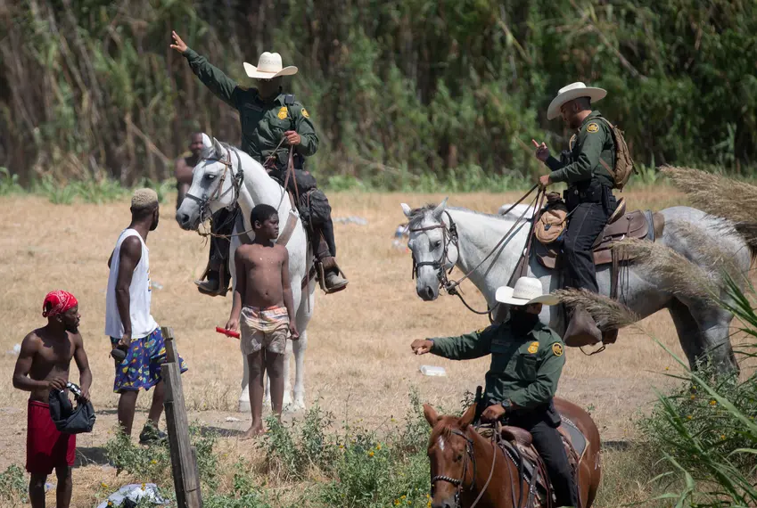 Border patrol agents criticized for treatment of Haitian migrants in Del Rio as U.S. tries to dissuade more from coming